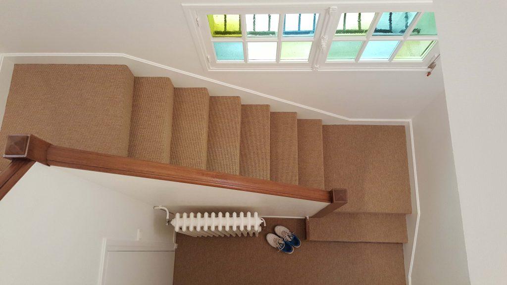 escalier en sisal clair